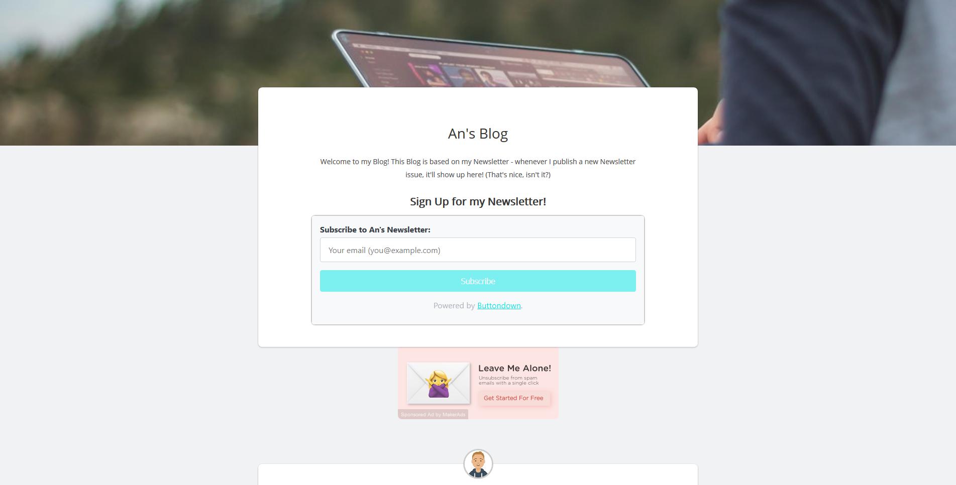 An's Blog Screenshot
