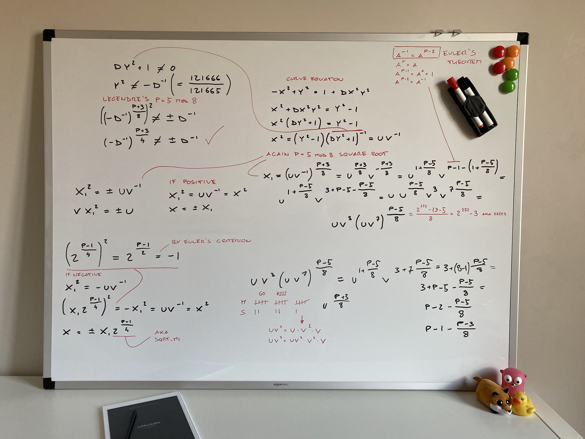 My whiteboard where I worked out the formulas in this issue