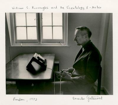willam burroughs holding an e-meter
