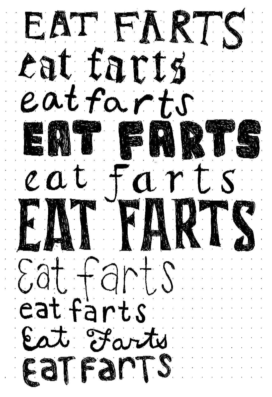 stretch goal eat farts print