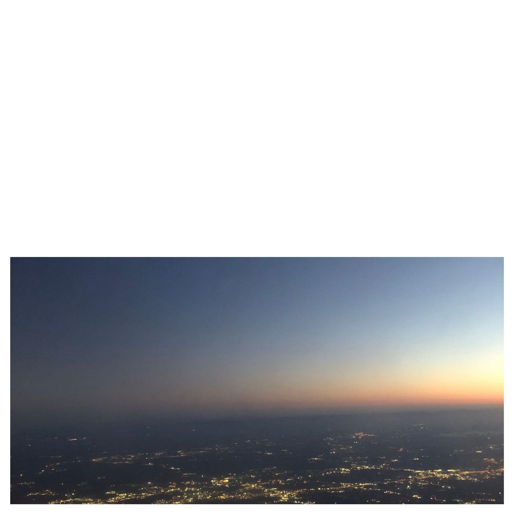 sunrise from 30,000 feet