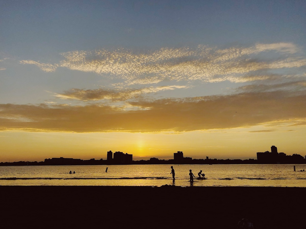 The sunset at Belle Isle