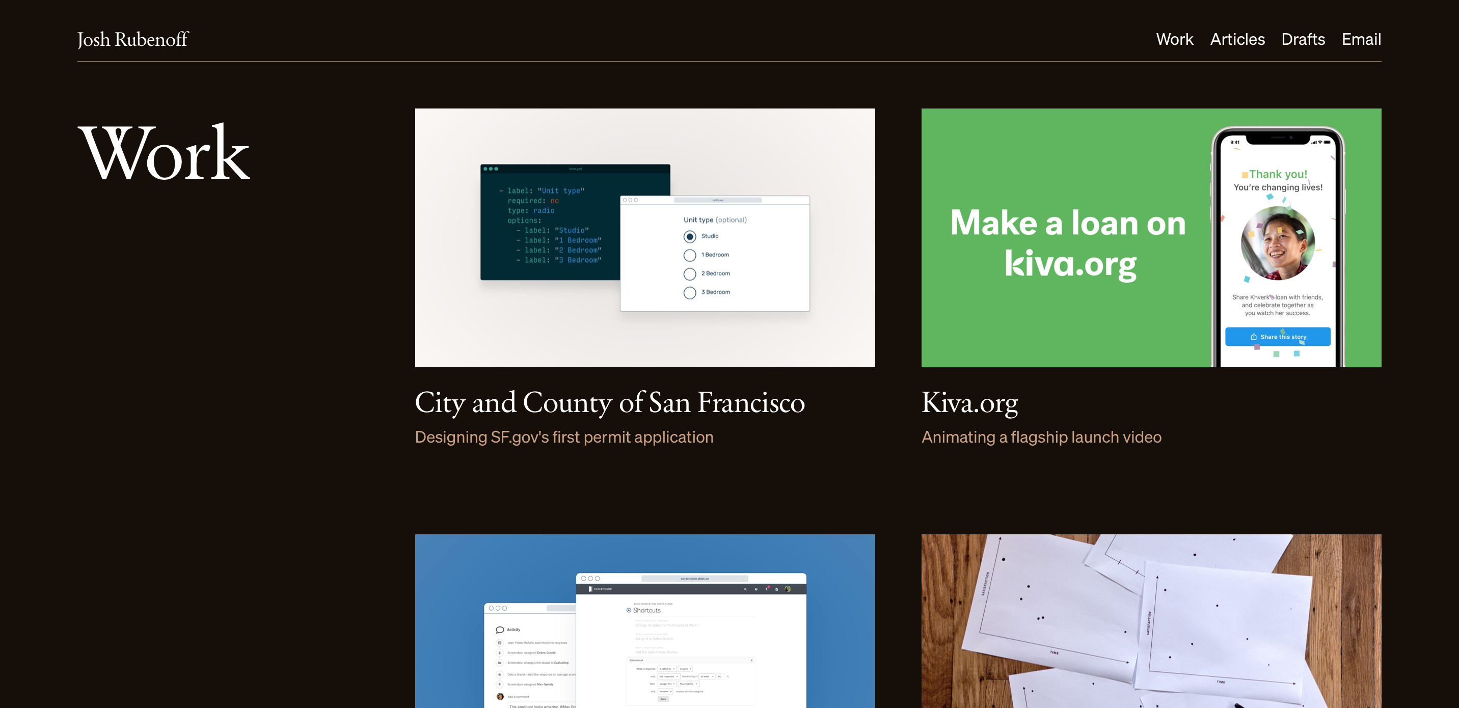 Screenshot of my portfolio.