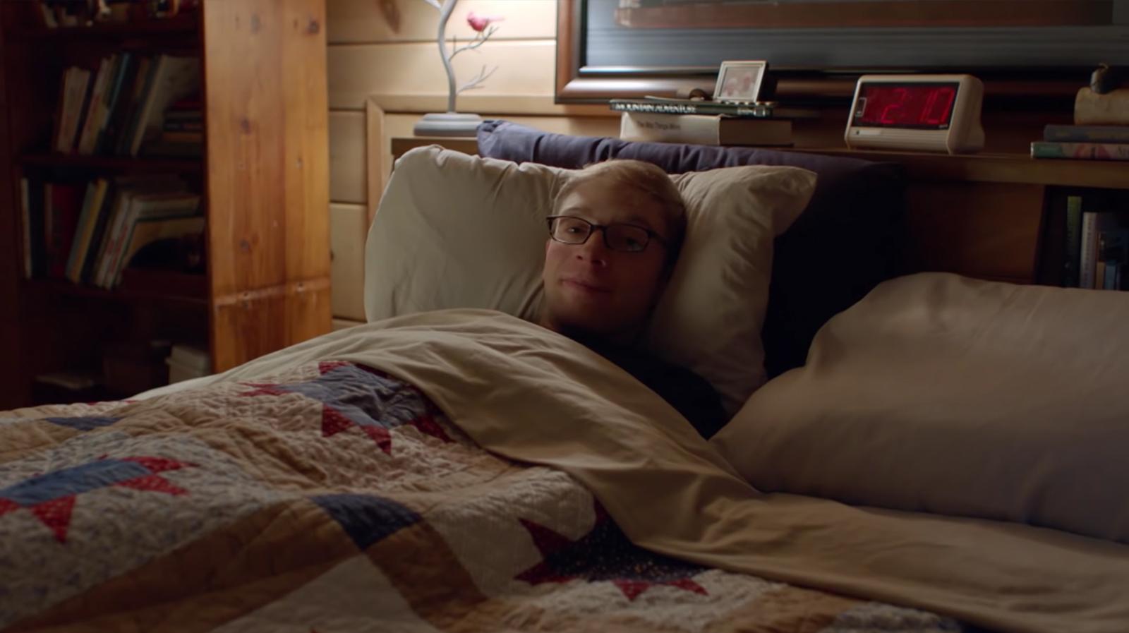 Joe in bed