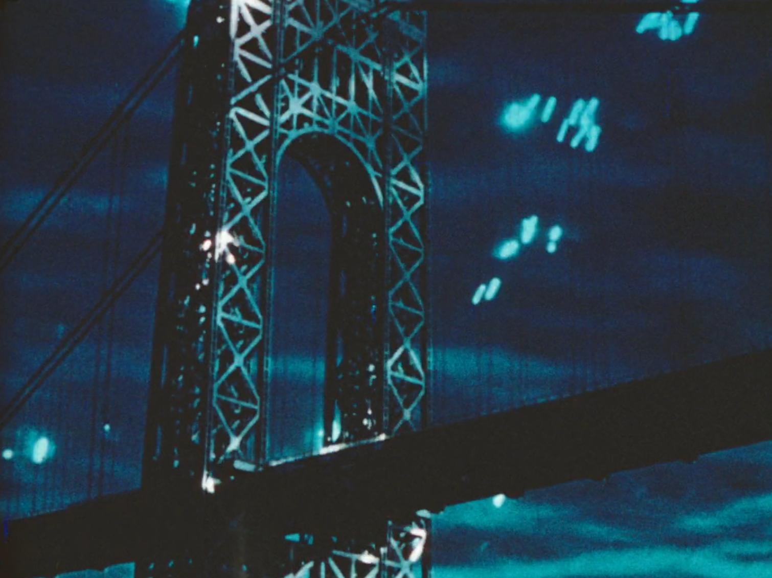Still from Shirley Clarke's Bridges Go Round.