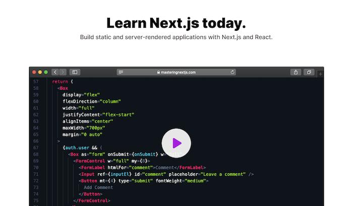 Mastering Next.js