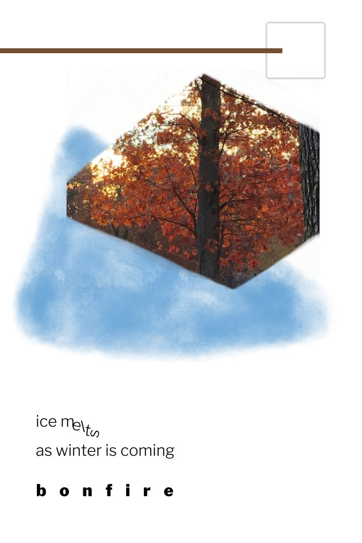 ice melts as winter is coming bonfire