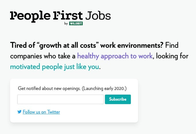 People first jobs home page