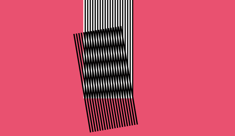 a moire pattern on a hot pink background