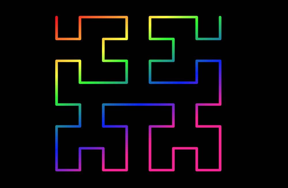 a rainbow hilbert curve