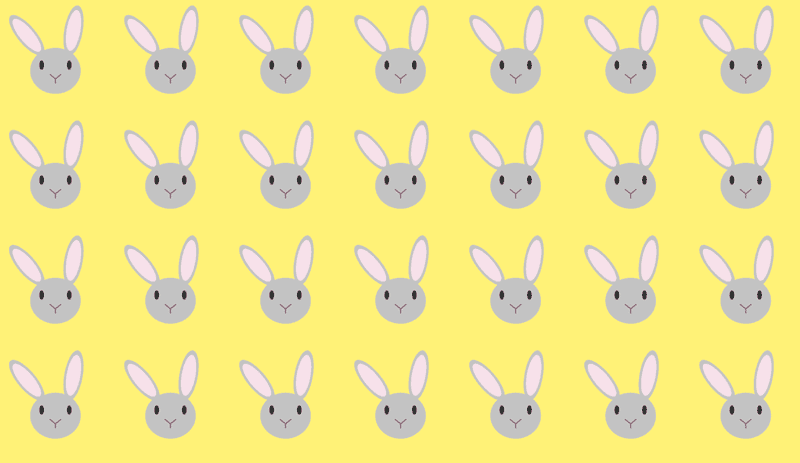 repeating easter bunnies