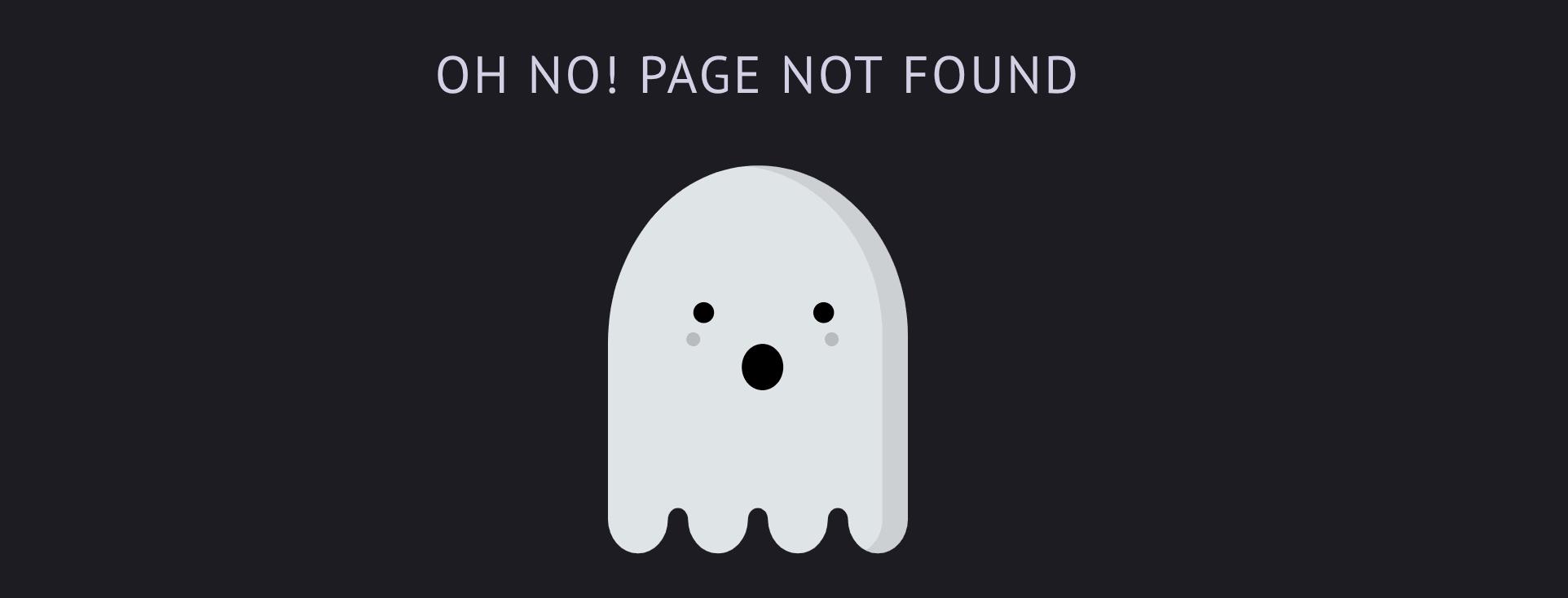 My 404 page illustration