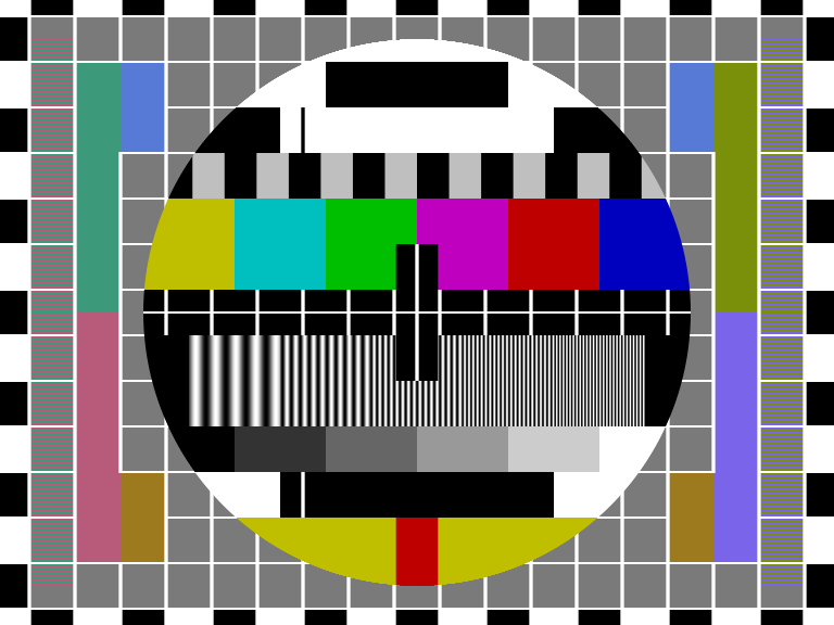 Philips PM5544 television test pattern
