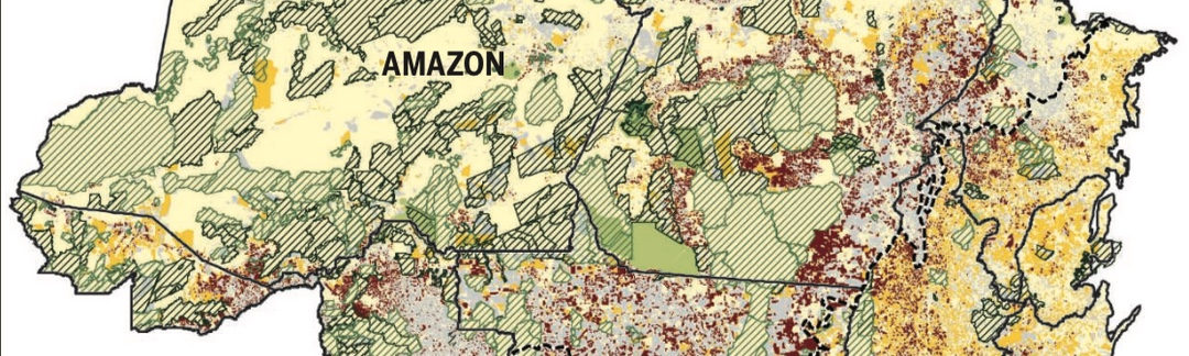 Map of land use in Amazon and Cerrado