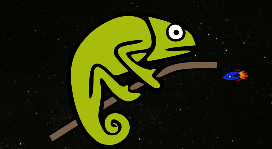 A chameleon in space