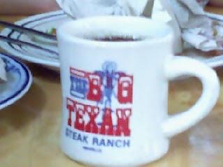 Big Texan coffee mug