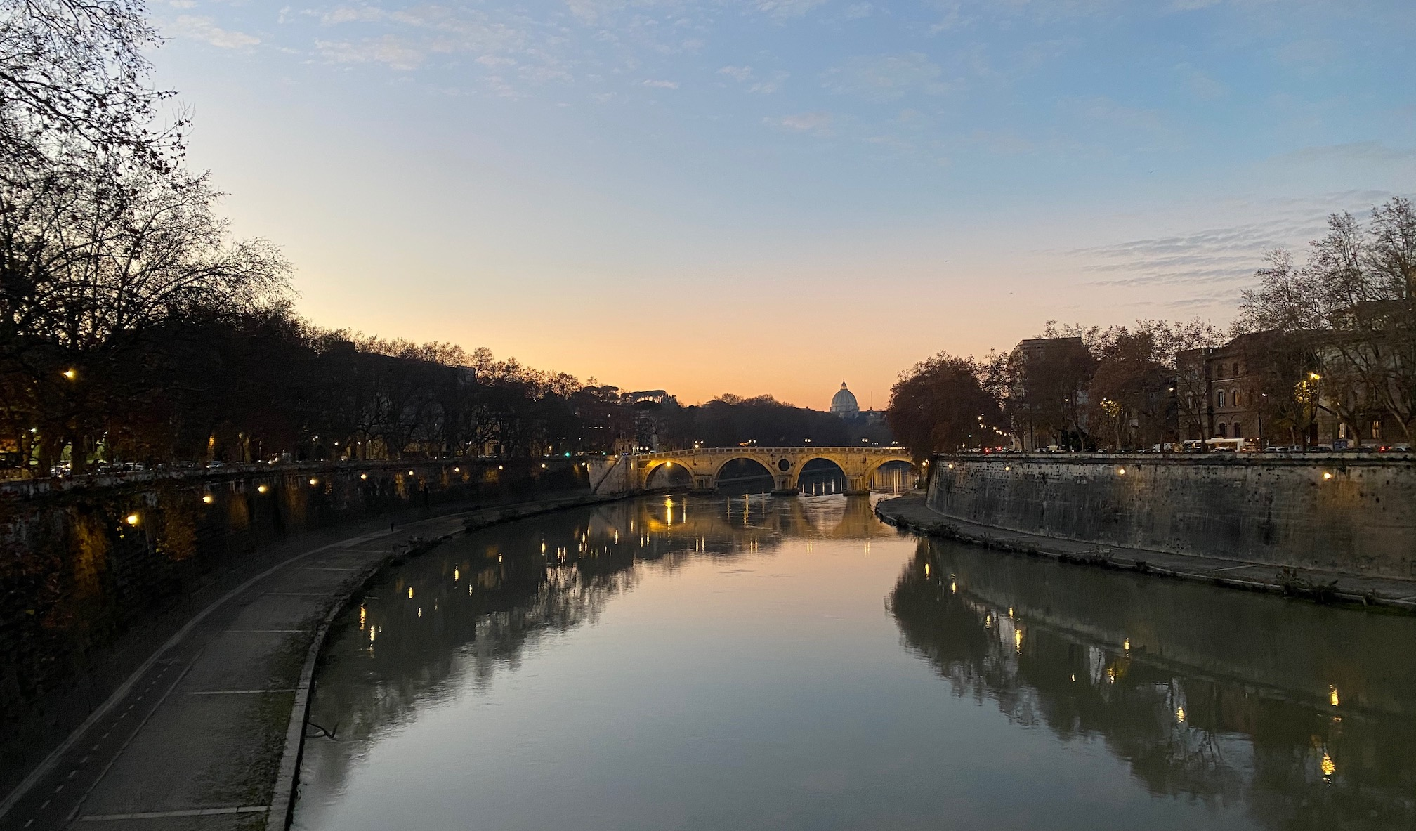 St. Peter's reflecting in the Tevere