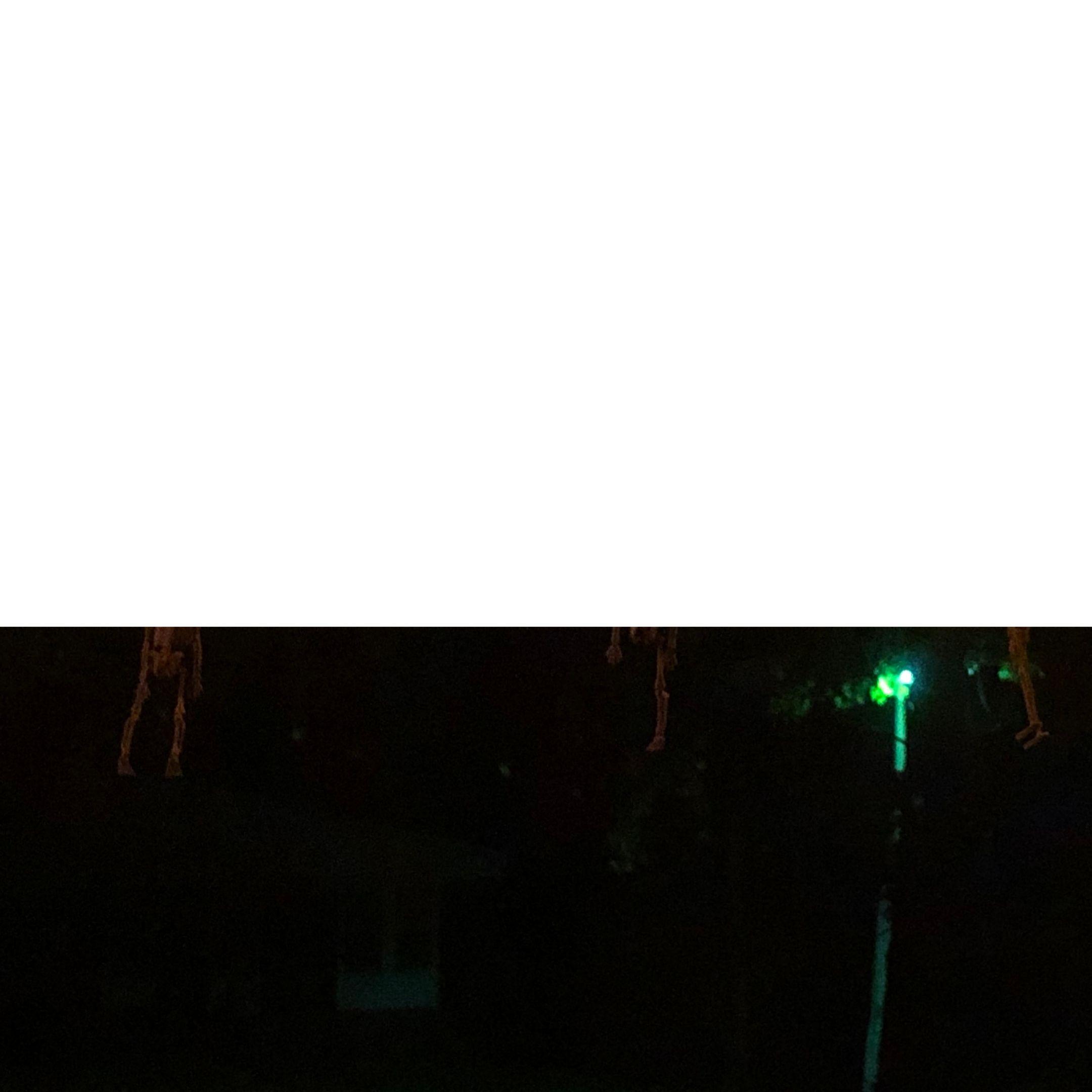 streetlight through wavy glass